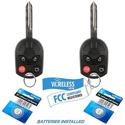 2 Car Key Fob Keyless Entry Remote 4B For 2010 2011 2012 2013 2014 Ford Mustang