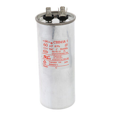 Electric Motor Start Run Capacitor for Single-phase Motor Micro Motor 60VF