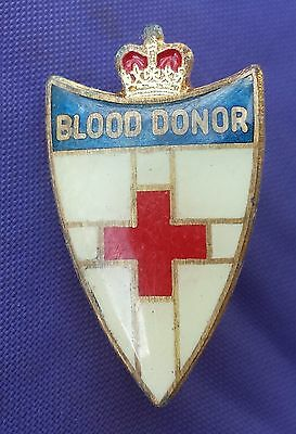 Red Cross Lapel  Badge, Blood Donor