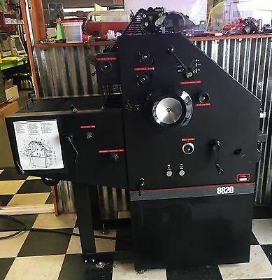 AB Dick 8820 Printing Press Used Very Little from School Print Shop