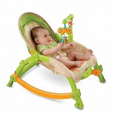Fisher Price Baby Newborn Portable Rocker Infant Cradle Crib Seat Bed Rocking
