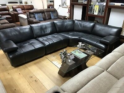 Sofology Leather Sofa 163 75 00 Picclick Uk