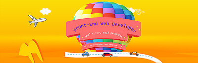 Become a front-end web developer, learn from a real tutor!(1 month subscription)