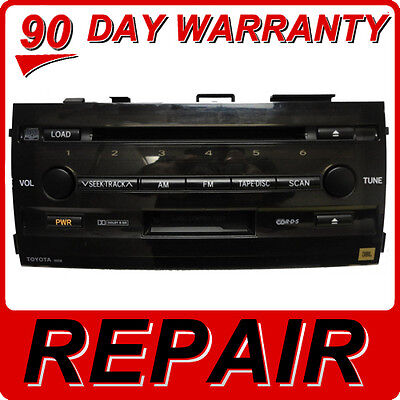 REPAIR SERVICE ONLY - TOYOTA Prius Radio 6 Disc Changer Tape CD Player Fix OEM