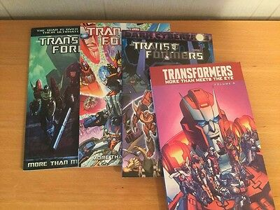 Transformers More Than Meets The Eye volumes 1, 5, 8, Dark Cybertron part one