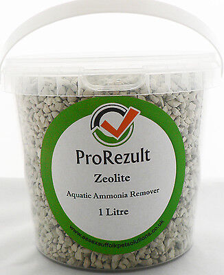 ZEOLITE AQUARIUM FISH POND FILTER MEDIA AMMONIA REMOVER 900g 1 LITRE SEALED TUB