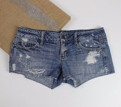 American Eagle Outfitter's Women's Distressed Medium Wash Denim Shorts Size 4