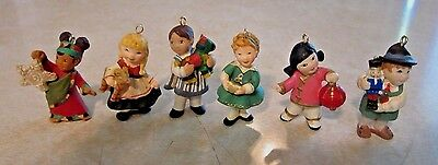 2007 Hallmark Miniature Ornaments - (6) Piece Set - Joy To The World Children