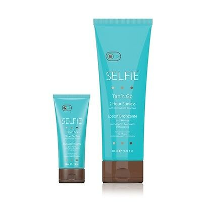 SELFIE 2 Hour Sunless with Immediate Bronzers Sunless Fake Tan Self Tanning NEW