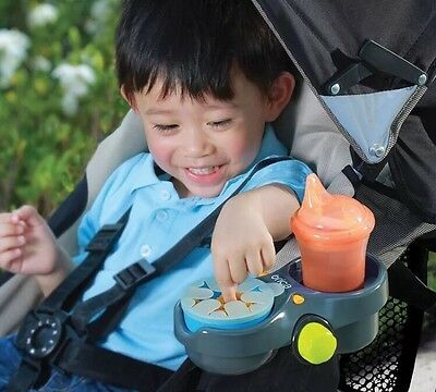 New Brica Baby Double Cup Snack Holder Pod For Carseat & Stroller