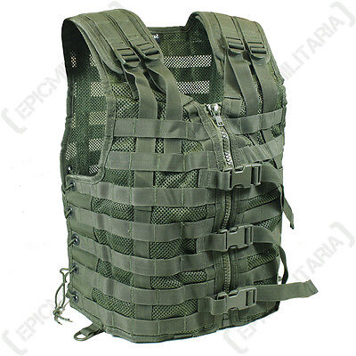 Olive Green TACTICAL MOLLE CARRIER ASSAULT VEST Combat Attachment Army Rig Top