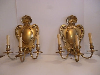 Beautiful  Pair Sconces. Gilt Bronze. Style French