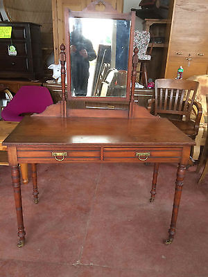 Lovely Edwardian Mahogany Dressing Table with Mirror Wells & Co Bedford