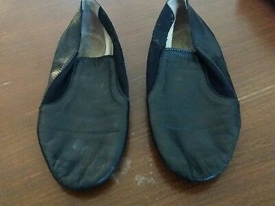 Black Dance Shoes Jazz Girls Size 1 slip on