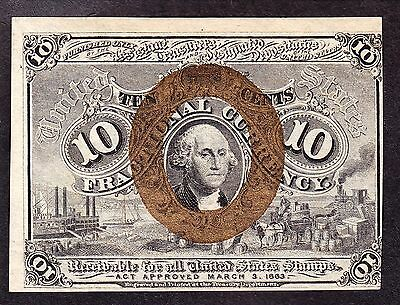 US 10c Fractional Currency FR 1244 CU