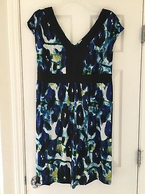 Duo Maternity Floral Short Sleeve Knee Length Dress 2XL Plus Size