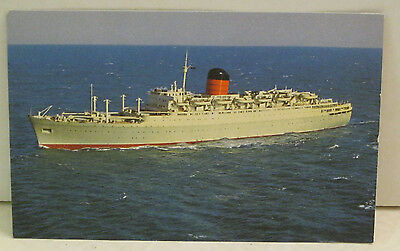 Carmania Cunard Passenger Ship 22,592 tons Old Postcard