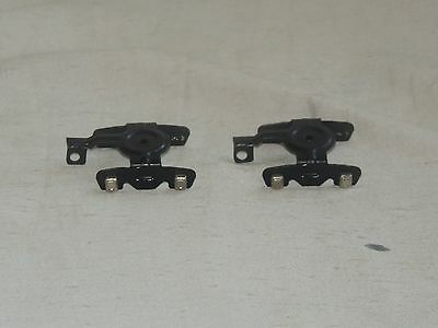 2 American Flyer Stamped Steel Trucks with Journal Covers & Coupler Extensions