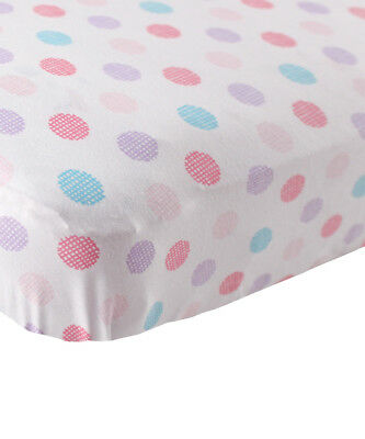 "Luvable Friends ""Crosshatch Dots"" Fitted Crib Sheet (28"" x 52"")"