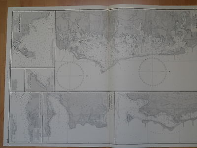 CM2054 Found in a treasure chest! Vintage marine chart South Pacific Ocean