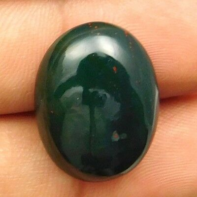 17.50 cts Natural Nice Untreated Bloodstone Gemstone Oval Shape Loose Cabochon