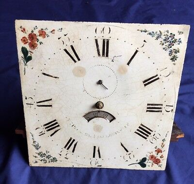 Antique 18th Century Long Case Grandfather Clock Movement 12""