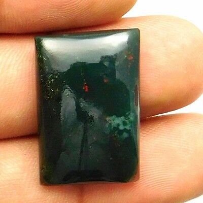 24.50 cts Natural Bloodstone Gemstone Octagon Shape Loose Cabochon For Jewelry