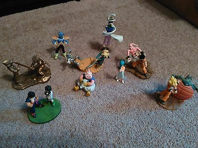Dragon Ball Z Gashapon Figures Set of 9! Must See! Excellent Condition!