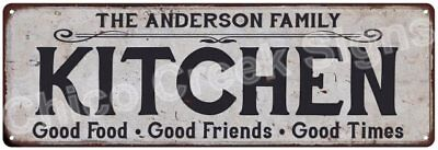 THE ANDERSON FAMILY KITCHEN Vintage Look Metal Sign Chic Decor Retro 6184240