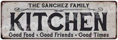 THE SANCHEZ FAMILY KITCHEN Vintage Look Metal Sign Chic Decor Retro 6184261