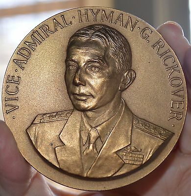 """Admiral Hyman Rickover Medal From Congress 1958 Us Mint Bronze Medal 3"""""""