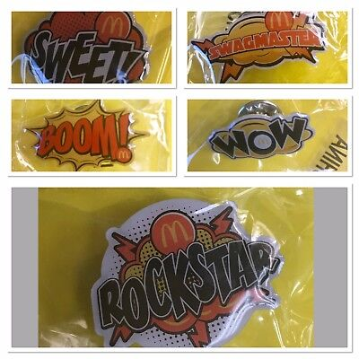 McDonald's Set Of 5 Lapel Pins