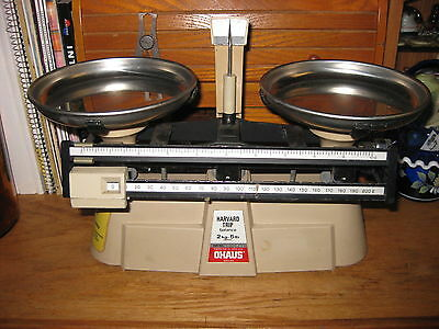 Ohaus Harvard Trip Balance 2Kg-5 lb, Scale. Pre owned Working Condition