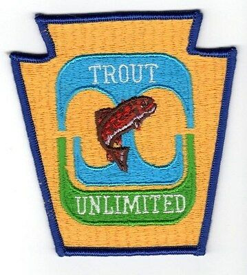 Pa Pennsylvania Fish Commission related Trout Unlimited TU Early Vintage Patch