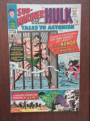 Tales to Astonish #70 Sub-Mariner and The Incredible Hulk (Aug 1965, Marvel)