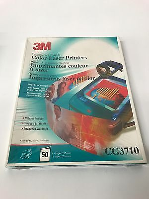 3M  Color Laser Transparency Film 50 Sheets 8.5 X11 CG3710 NEW