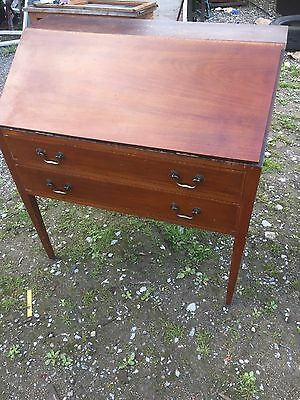 Vintage Writing Bureau Home Office Traditional 2/8/M