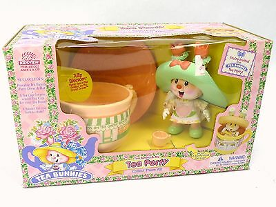Tea Bunnies Party Playset NEW Sealed Vintage 90s Tulip Blossom Green Grocer Set