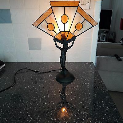 Art Deco leaded glass Fan Lamp