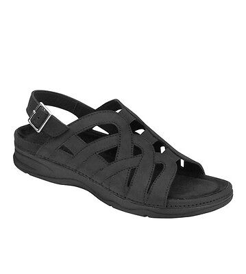 07e0b7f15547c2 BAREFOOT FREEDOM BY Drew Sandy Sandal Black -  34.99