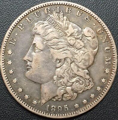 1895 S Morgan Silver Dollar Vf++ Rare Key Date Coin Only 400,000 Minted