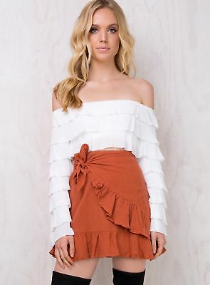 New Women's Backfire Ruffle Wrap Skirt