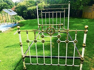 Victorian Iron And Brass Bed Frame