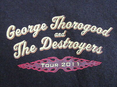 George Thorogood And The Destroyers 2011 Tour Shirt Large 2120 South Michigan Av