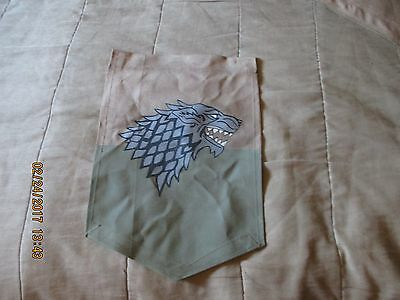Game Of Thrones House Stark Of Winterfell Small Wall Banner Flag Hand Made