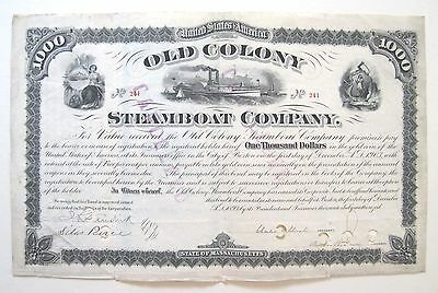 Old Colony Steamboat $1000 Bond 1893