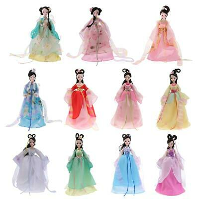 Postures Flexible 10 Joints Fashion Costume Vinyl Doll DIY Toy Kid Birthday Gift