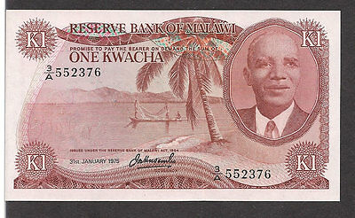 Malawi   One Kwacha  1964  31Dt January 1975    Crisp Unc