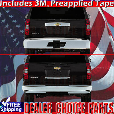 Tyger Auto Fit 2015-2016 Chevy Tahoe Chrome ABS Rear Upper Trunk Moulding 1PC Logo Cutout