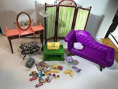 Barbie My Scene Furniture Chelsea Style Room Getting Ready Vanity Play Set RARE!